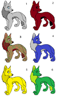 Adoptables  -!!!!!OPEN!!!!- by Lyricsloveandbooks