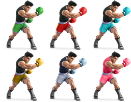 Little Mac SSB4 Recolors by shadowgarion