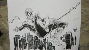 con sketch spider-man by kevinmellon