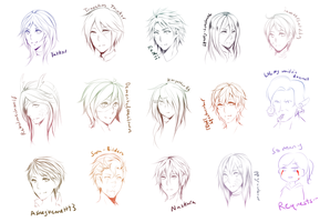 Sketch Request Batch 1 by RyuEi-Atelier
