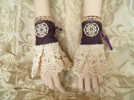 Steampunk-Victorian cuffs PCCC22 by JanuaryGuest