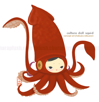 Culture Doll Giant Squid Art by kaijumama