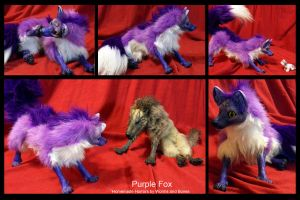 Purple Fox w/Amethyst by WormsandBones