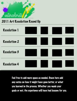 Art Resolution 2011 Roundup Template by SylvanCreatures