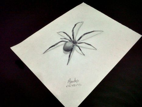 Drawing 3D - The Spider #1 - #BRASIL by Mendiis