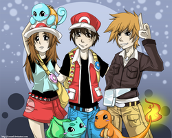 Pokemon Adventure guys by KrazyD
