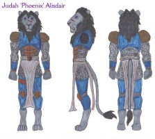 Judah 'Phoenix' Alisdair-Character sheet by SpudYeisleyCreations
