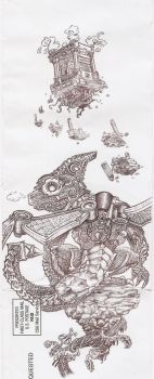 Drobot. Steps of the Sky Temple by Sketchy-on-Details