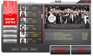 Launcher game online JKT48 *fiktif by bayukilla