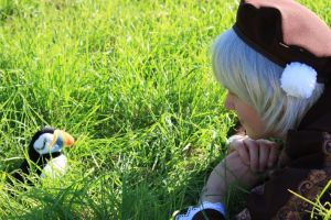 Iceland and his Puffin by Blaane