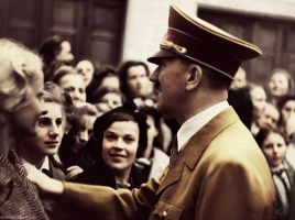 Adolf Hitler (in colour) from my tumblr #2 by Julia-Koterias