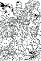 Street Fighter Vector Inking by iANAR