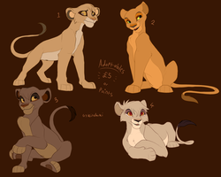 Lion King cub adoptables -ALL TAKEN- by Kitchiki