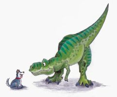 the dinosaur and the dog by rz250
