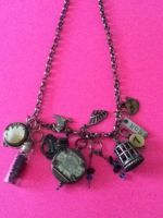 Industrial Chic Charm Necklace by peaceloveandunicorns
