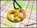 Soft Pretzel Necklace by GrandmaThunderpants