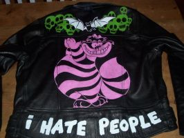 Leather Jacket - Cheshire Cat by IrradiatedEyes