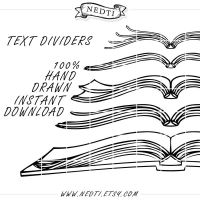 Book Text Dividers Hand Drawn by Nedti by Nedti