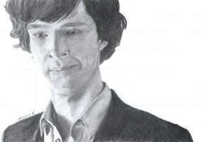 Sketch: Mr. Holmes by IslandWriter