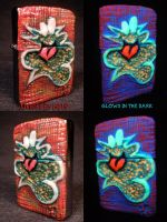 Plasma Slug Zippo by Undead Ed Glows in The Dark 2 by Undead-Art