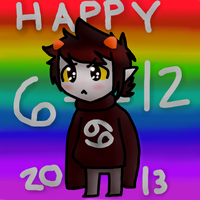Happy Wriggling Day Karkat!!!! by cloudkit25
