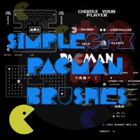 Pacman Brush Set by SimpleGFX