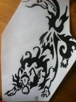 Tribal tattoo design wolf by thisiscray