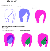 Lineless style tutorial for CopicUser101 by PrincetonsMonster
