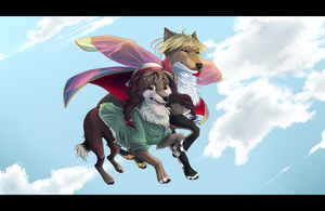 Sophie and Howl- fursonified Howl's Moving Castle by Capukat