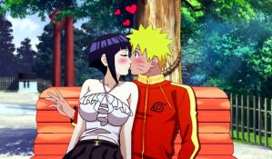 NaruHina Stolen Kiss by 777luck777