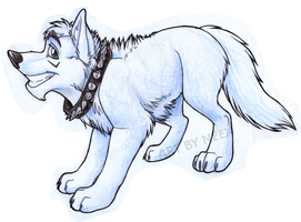 Icy-Wolf Commission by bingles