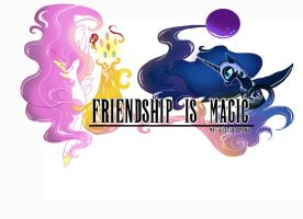 MLP Final fantasy Logo style by sailormuffin
