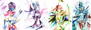 WatercolorCirlsDota2Part1 by JunKazama15