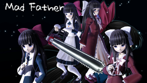 -MMD Aya And Doll Aya Ten Faced (Video Link)- by TheHorrorFan77