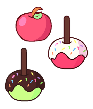Some apples by Cuppykins
