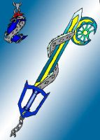 The Cresent Moon Keyblade by Cartoon-Eric