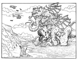 Attack of the sea creatures by godzillasmash