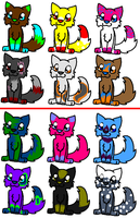 GONE 60 watchers adoptables! by Firecracker-cat