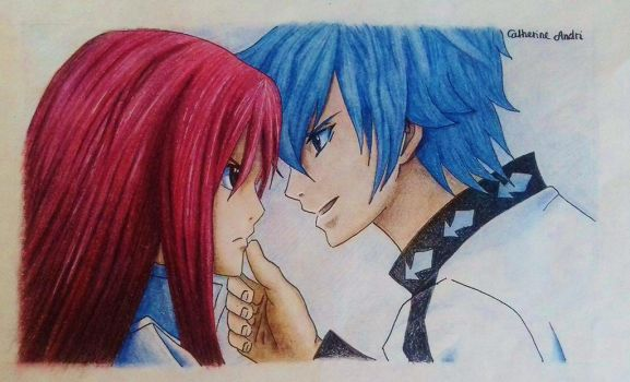 Jellal (Siegrain) and Erza by catherineandri