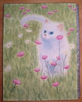 Kitten in a Field of Flowers by IrishAficionado