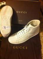 Gucci White Leather and Python Detailed High Tops by MarcusMcCloud100