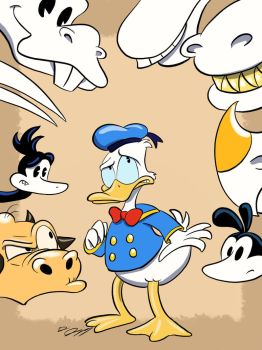 Donald and the Dinosaurs  by moviedragon009v2