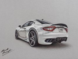 Maserati Gran Turismo DRAWING by marcellobarenghi