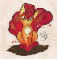 OLD Vulpix by TurtieDroppings