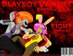 Bunny Vs. Bat - Gorey Fight by PlayboyVampire