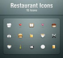 Restaurant Icons by kyo-tux