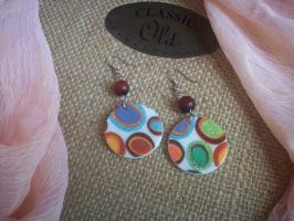 Polka Dot Earrings by ChrisOnly