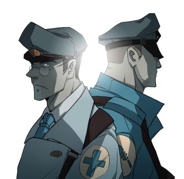 Tf2 Medic And Soldier by biggreenpepper
