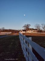 Farm House And The Moon by jim88bro