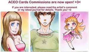 ACEO Card Commissions by Aish89